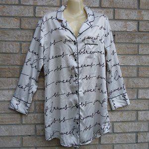 SIZE M.Victoria's Secret Button-Down Night Shirt